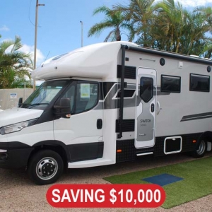 2020 Sunliner Switch 494 G Motorhome 27ft – $189,990 Drive Away